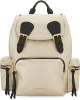 Burberry Metallic leather backpack