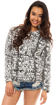 Crooks and Castles The Endangered Crewneck Sweatshirt in Snake Print