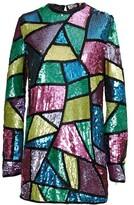 ATTICO geometric sequin mini dress