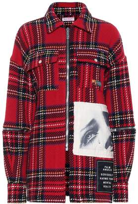 Palm Angels Checked wool-blend jacket