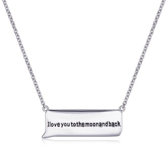 """Forever Last Sterling Silver """"I LOVE YOU TO THE MOON & BACK"""" Necklace"""