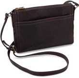 Le Donne Café Finte Leather Crossbody Bag