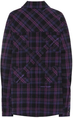 Off-White Checked cotton-blend flannel shirt