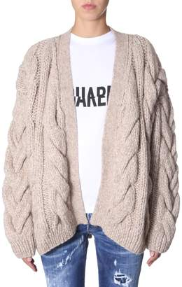 DSQUARED2 Knitted Cardigan In Braiding