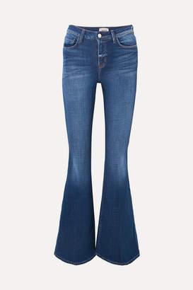 L'Agence Solana High-rise Flared Jeans - Dark denim