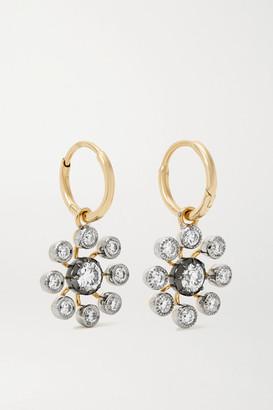 Jessica McCormack Gypset Bloom 18-karat Blackened White And Yellow Gold Diamond Earrings - One size