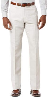 Perry Ellis Men Linen Blend Solid Twill Pants