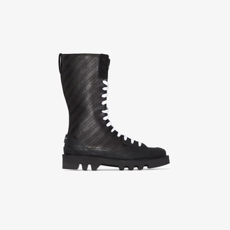 Givenchy Black Chain Clapham leather boots