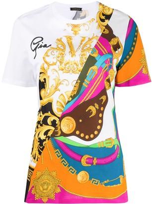 Versace Barocco Rodeo print T-shirt