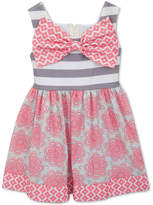 Rare Editions Floral & Stripe Dress, Baby Girls
