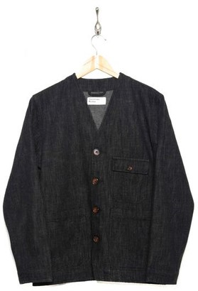 Universal Works Cabin Jacket 23105 Wool Blend Denim Black - S