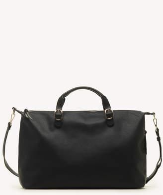 Sole Society Women's Grant Weekender Vegan In Color: Black Bag Vegan Leather From