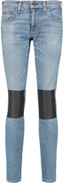 Rag & Bone Tomboy faux leather-paneled mid-rise straight-leg jeans
