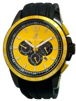 Adee Kaye Men's AK7141/YL artfully designed Yellow dial protected with a durable mineral crystal Watch