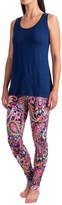 Cynthia Rowley Swing Tank Top with Printed Leggings - 2-Piece Set (For Women)