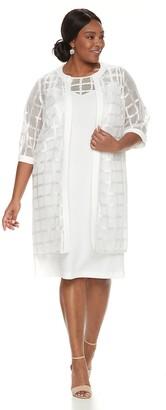 Maya Brooke Plus Size Sheath Evening Dress & Georgette Jacket Set
