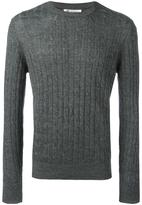 Brunello Cucinelli ribbed trim jumper - men - Cotton/Linen/Flax - 52