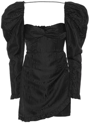 Alessandra Rich Moire-jacquard minidress