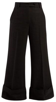 J.W.Anderson Sailor Crepe Trousers - Womens - Black