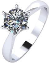 Moissanite Paldium 1 Carat Solitaire Ring