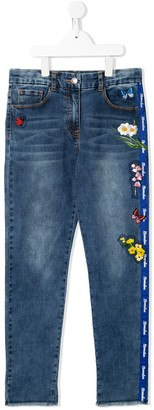 MonnaLisa TEEN embroidered skinny jeans