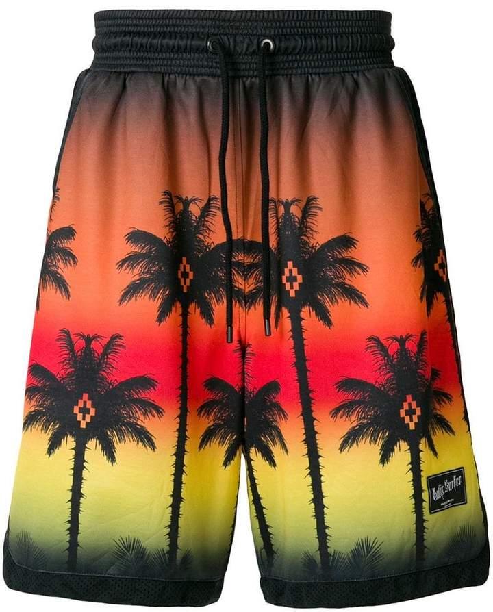 Marcelo Burlon County of Milan palm sunset bermuda shorts