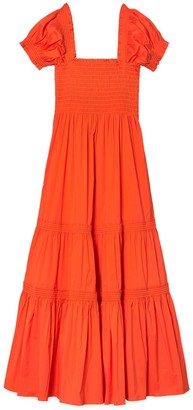 Tory Burch Smocked Midi Dress
