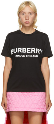 Burberry Black Shotover Logo T-Shirt