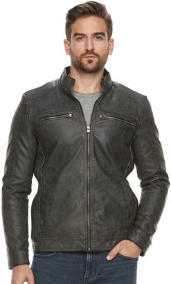 X-Ray Men's Faux-Leather Jacket