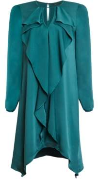 BCBGMAXAZRIA Ruffled Asymmetrical Dress