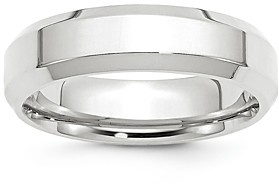 Bloomingdale's Men's 6mm Bevel Edge Comfort Fit Band in 14K White Gold - 100% Exclusive