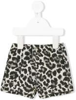 Il Gufo leopard print shorts