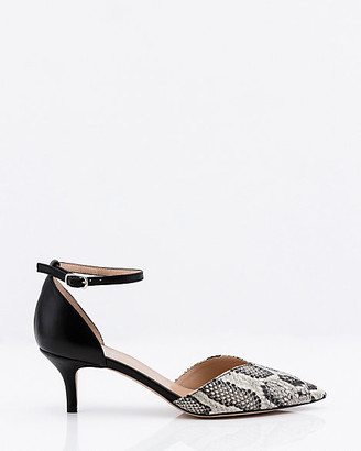 Le Château Italian-Made Snake Embossed Leather Pump