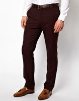 Peter Werth Suit Trousers In Burgundy - Red