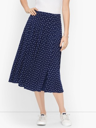 Talbots Anchor Print Pleated Skirt