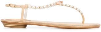 Rene Caovilla Eliza bow detail sandals