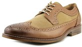 Bass Clinton Men Wingtip Toe Leather Tan Oxford.