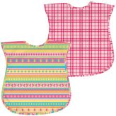 I Play Green Sprouts by 2-pk. Plaid & Stripes Waterproof Bibs - Baby
