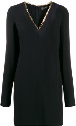 Versace V-neck mini dress
