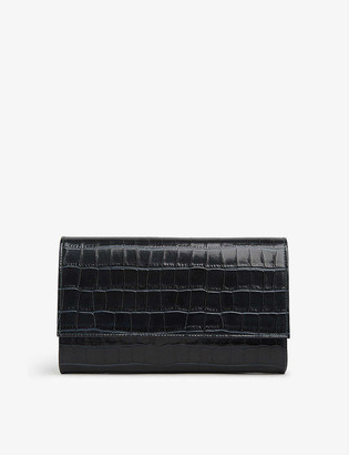 LK Bennett Dayana leather clutch bag