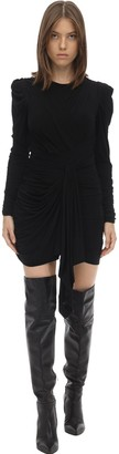 Isabel Marant Tonia Draped Stretch Jersey Mini Dress
