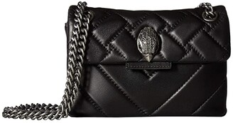 Kurt Geiger London Leather Mini Kensington Crossbody (Black) Cross Body Handbags