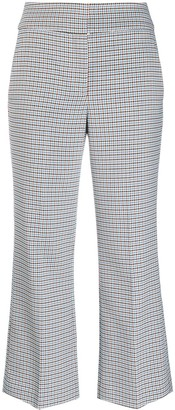 Veronica Beard Checked Kick-Flare Trousers