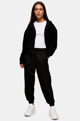 Topshop Womens Petite Black 90S Oversized Joggers - Black