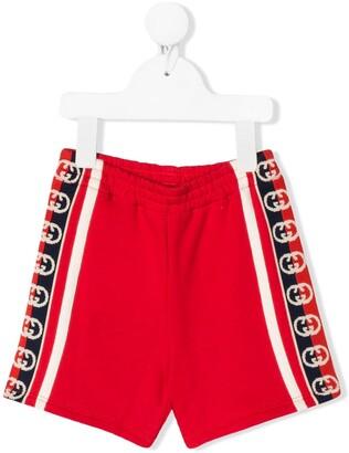 Gucci Kids Logo Stripe Shorts