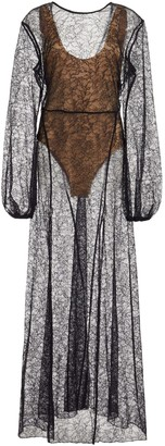 Rotate by Birger Christensen Lisa Sheer Lace Maxi Dress