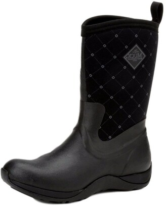 Muck Boot Muck Arctic Weekend Mid-Height Rubber Women's Winter Boots - Black Quilt - 6