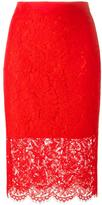Diane von Furstenberg floral lace pencil skirt