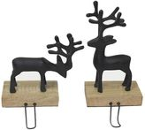 St. Nicholas Square® Pewter Deer Stocking Hanger 2-piece Set
