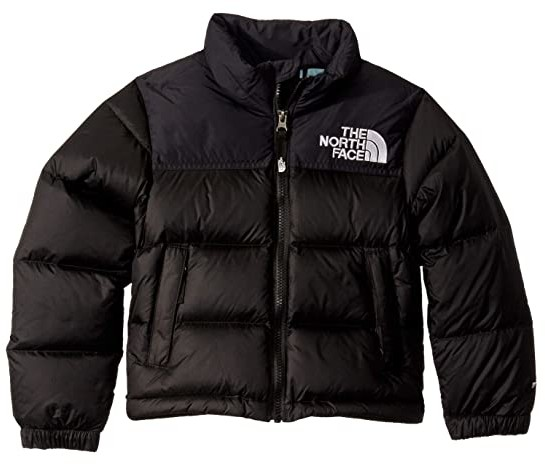 The North Face Kids 1996 Retro Nuptse Down Jacket (Little Kids/Big Kids) (TNF Black/Windmill Blue) Kid's Coat